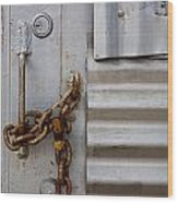 Locked Wood Print by Peter Tellone