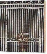 Locked Promenade Wood Print