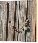 Locked Wood Wood Print