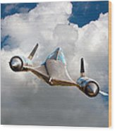 Lockheed Blackbird A12 Trainer Wood Print