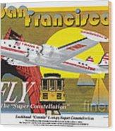 Lockheed L-1049g Super Constellation Wood Print