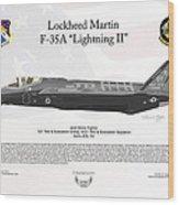 Lockheed Martin F-35a Lightningii Wood Print