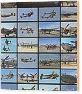 Lockheed P-38 Poster Wood Print