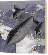 Lockheed Sr-71 Blackbird Wood Print