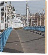 Locks On Bridge Wood Print