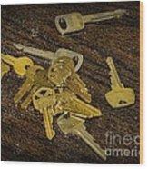 Locksmith - Rejected Keys Wood Print