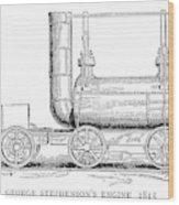 Locomotive, 1815 Wood Print