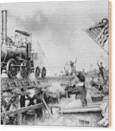 Locomotive, 1929 Wood Print