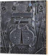 Locomotive 886 Steam Boiler Firebox Wood Print