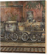 Locomotive - Our Old Family Business Wood Print by Mike Savad