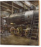 Locomotive - Repairing History Wood Print