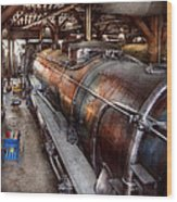 Locomotive - Routine Maintenance  Wood Print