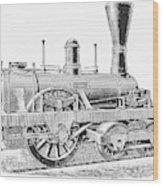 Locomotive Sandusky, 1837 Wood Print
