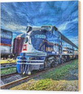 Locomotive Wabash E8 No 1009 Wood Print