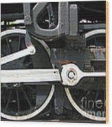 Locomotive Wheels Wood Print