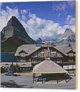 Lodge At Many Glacier, Glacier National Wood Print