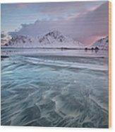 Lofoten Island Sunrise Wood Print