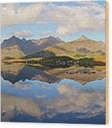 Lofoten Panorama Selfjorden Norway Wood Print