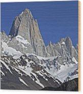 Lofty Mount Fitz Roy Wood Print