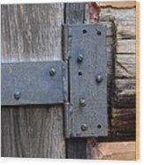 Log Cabin Door Hinge Wood Print