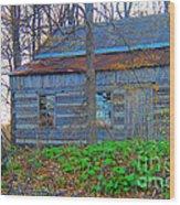 Log Cabin Revisited Spring 2014 Wood Print