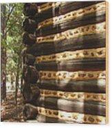 Log Corner Wood Print