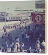 Log Flume Funtown Pier Seaside Heights Nj Wood Print
