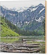 Log Jam In Avalanche Lake In Glacier Np-mt   Wood Print