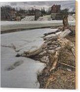 Log On Otter Creek Wood Print