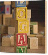 Logan - Alphabet Blocks Wood Print