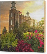 Logan Temple Garden Wood Print