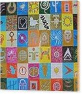 Logos and symbols Wood Print
