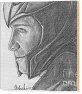 Loki Smirking Wood Print