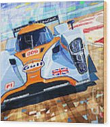 Lola Aston Martin Lmp1 Racing Le Mans Series 2009 Wood Print