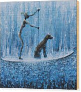 Lola In The Water Wood Print by Ned Shuchter