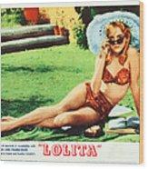 Lolita, Sue Lyon On Lobbycard, 1962 Wood Print