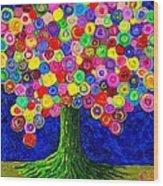 Lollipop Tree 2 Wood Print