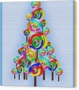 Lollipop Tree Wood Print