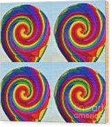 Lollipops Wood Print
