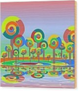 Lollypop Island Wood Print