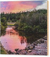 Lolo Hot Springs Creek Wood Print
