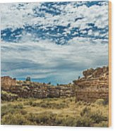 Lomaki Pueblo In Box Canyon Wood Print