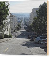 Lombard Street. San Francisco 2010 Wood Print