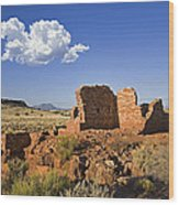 900 Year Old Lomaki Puebloan Ruins, Arizona Wood Print