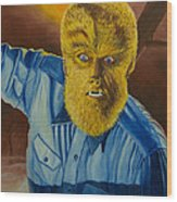 Lon Chaney Jr As Wolfman Wood Print