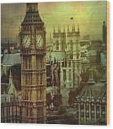 London - Big Ben Wood Print