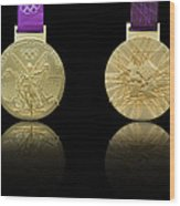 London 2012 Olympics Gold Medal Design Wood Print