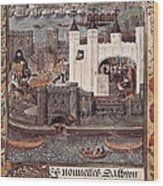 London And The Thames 15th C.. Gothic Wood Print by Everett