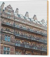 London Apartments Wood Print