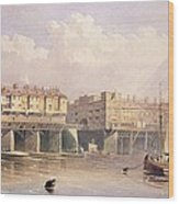 London Bridge, 1835 Wood Print